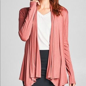 Pink Flamingo Open Front Cardigan Size S